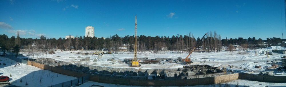 Ход строительства ЖК Вудстория 16.02.2017 (4)