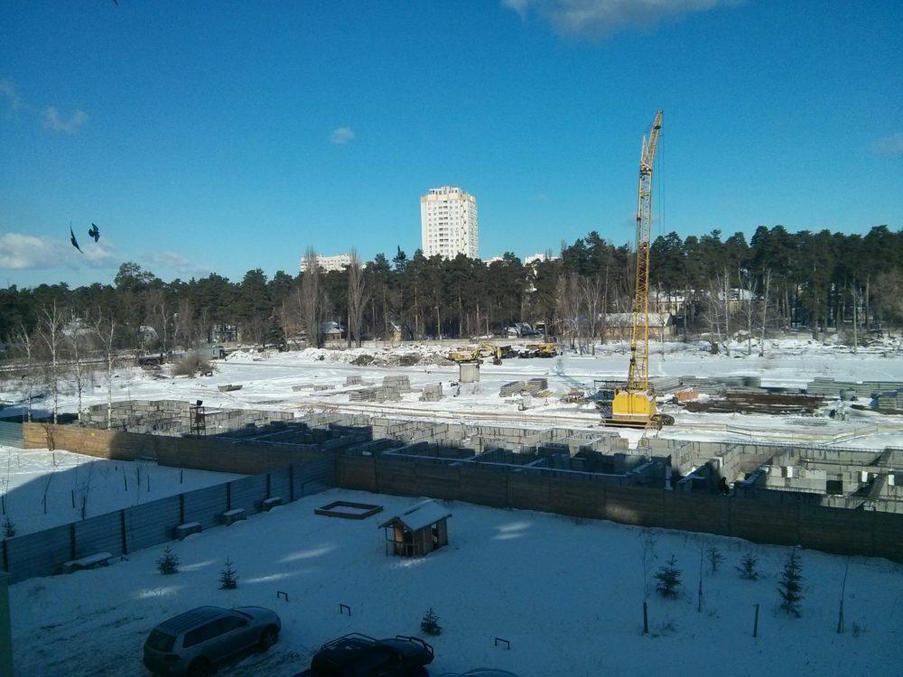 Ход строительства ЖК Вудстория 16.02.2017 (9)