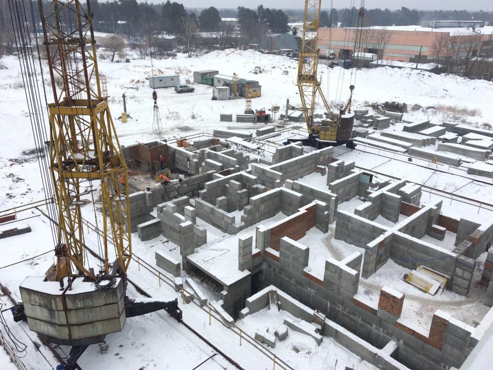 Ход строительства ЖК Вудстория 4.02.2017 (1)